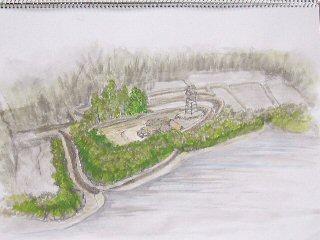 額田城跡イメージ図